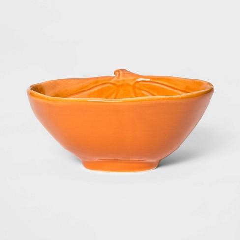 13oz Stoneware Pumpkin Candy Dish Orange - Threshold™ - image 1 of 2