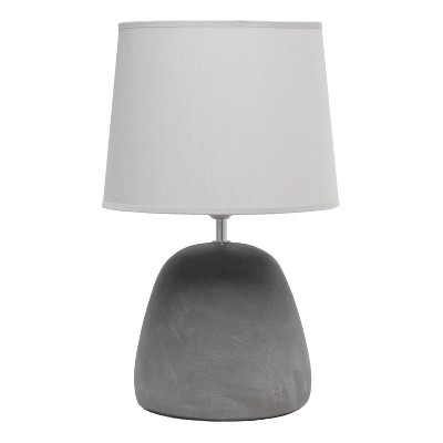 Round Concrete Table Lamp with Shade Gray - Simple Designs