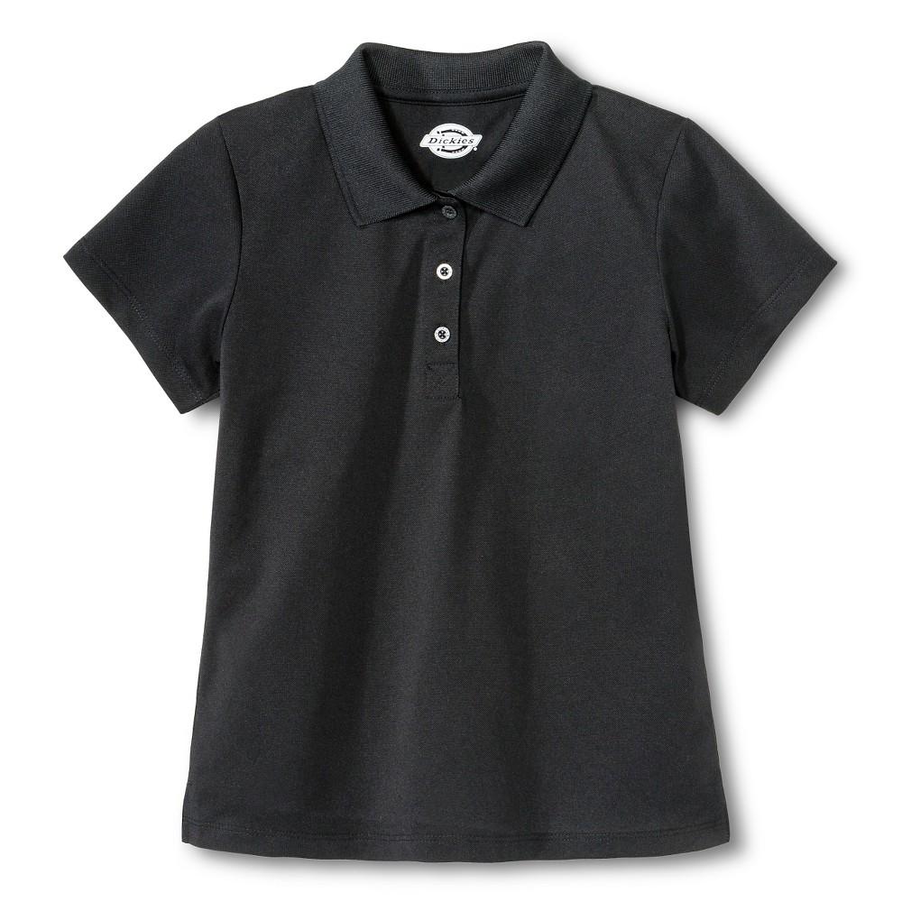Dickies Girls' Performance Uniform Polo Shirt - Black L