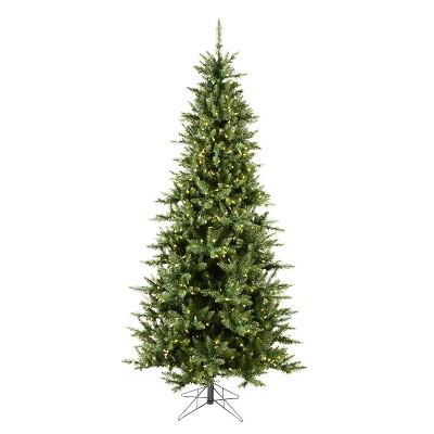 Vickerman Camdon Fir Slim 6.5 Foot Prelit Pencil Artificial Green Christmas Tree with Mini LED Lights