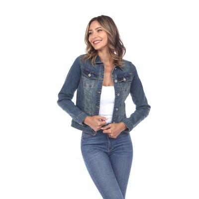 Women's Classic Denim Jacket - White Mark