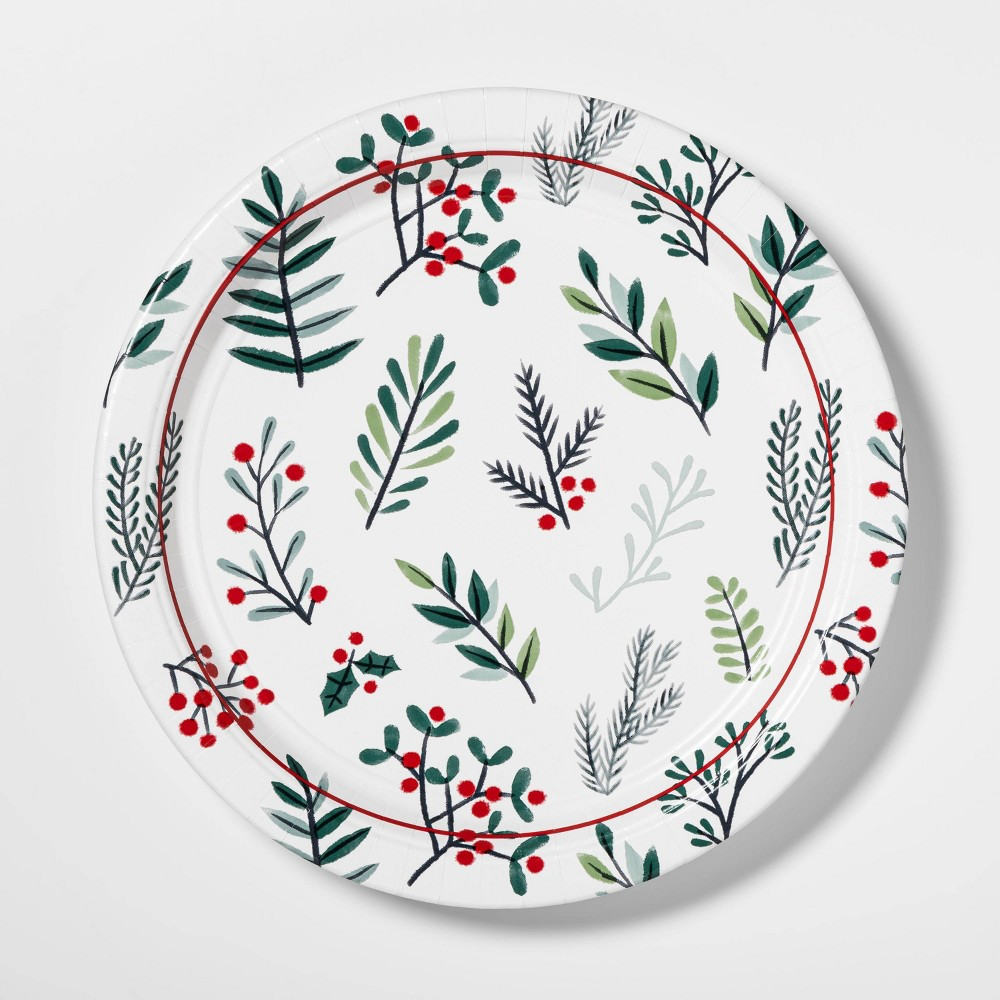 """Image of """"10.5"""""""" 12ct Conservatory Round Disposable Plates - Wondershop"""""""