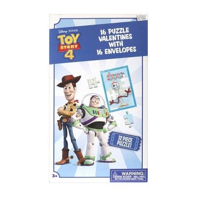 Disney Toy Story 16ct Puzzles Valentines With Envelopes