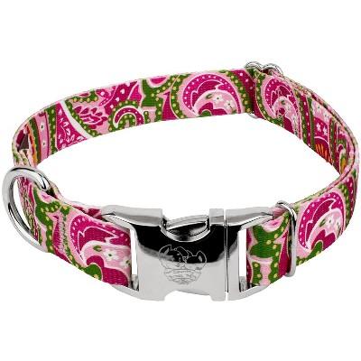 Country Brook Design® Pink Paisley Premium Dog Collar