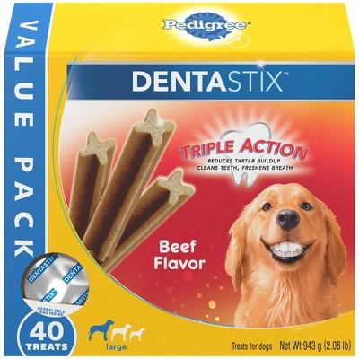 Pedigree Dentastix Beef Flavor Large Dental Dog Treats