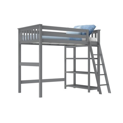 Max & Lily Twin High Loft Bed with Bookcase