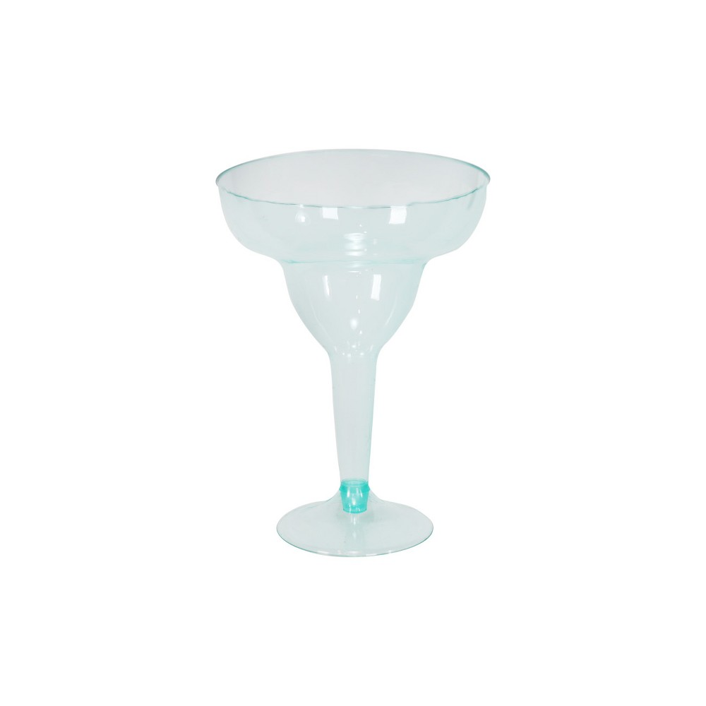 Image of 10ct Margarita Glasses Turquoise - Spritz , Blue