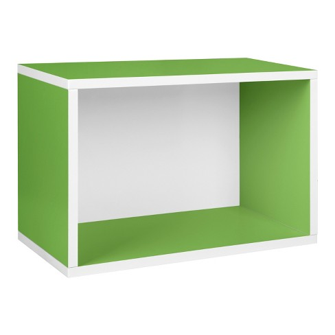 Way Basics Stackable Eco Rectangle Shelf - Shoe Rack, Green - Formaldehyde Free - Lifetime Guarantee - image 1 of 5