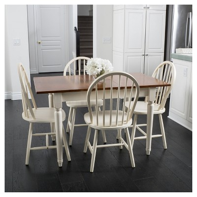 Willie Creek 5pc Spindle Wood Dining Set   Antique White   Christopher  Knight Home : Target