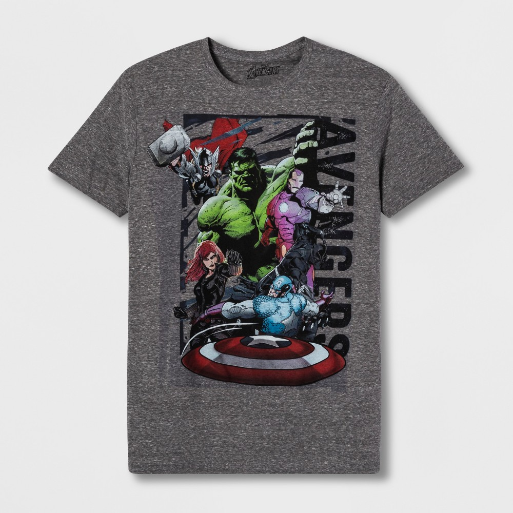 Men's Avengers Short Sleeve Graphic T-Shirt - Grey XL, Gray