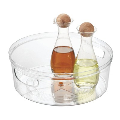iDESIGN Crisp Turntable with Handles Clear