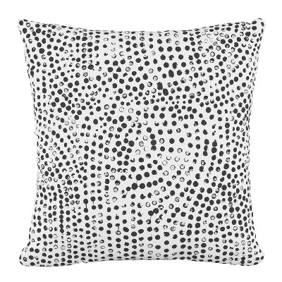 Dots Outdoor Throw Pillow White - Cloth & Company