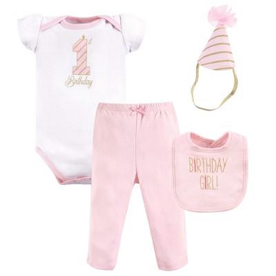 Hudson Baby Infant Girl Birthday Boxed Giftset, Birthday Girl, 12-18 Months