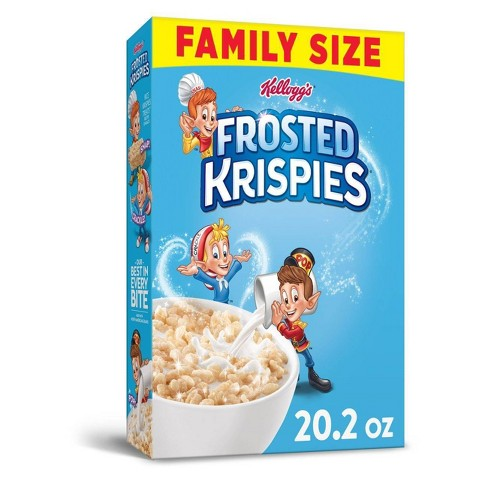 Frosted Rice Krispies Breakfast Cereal - 20.2oz - Kellogg's - image 1 of 4