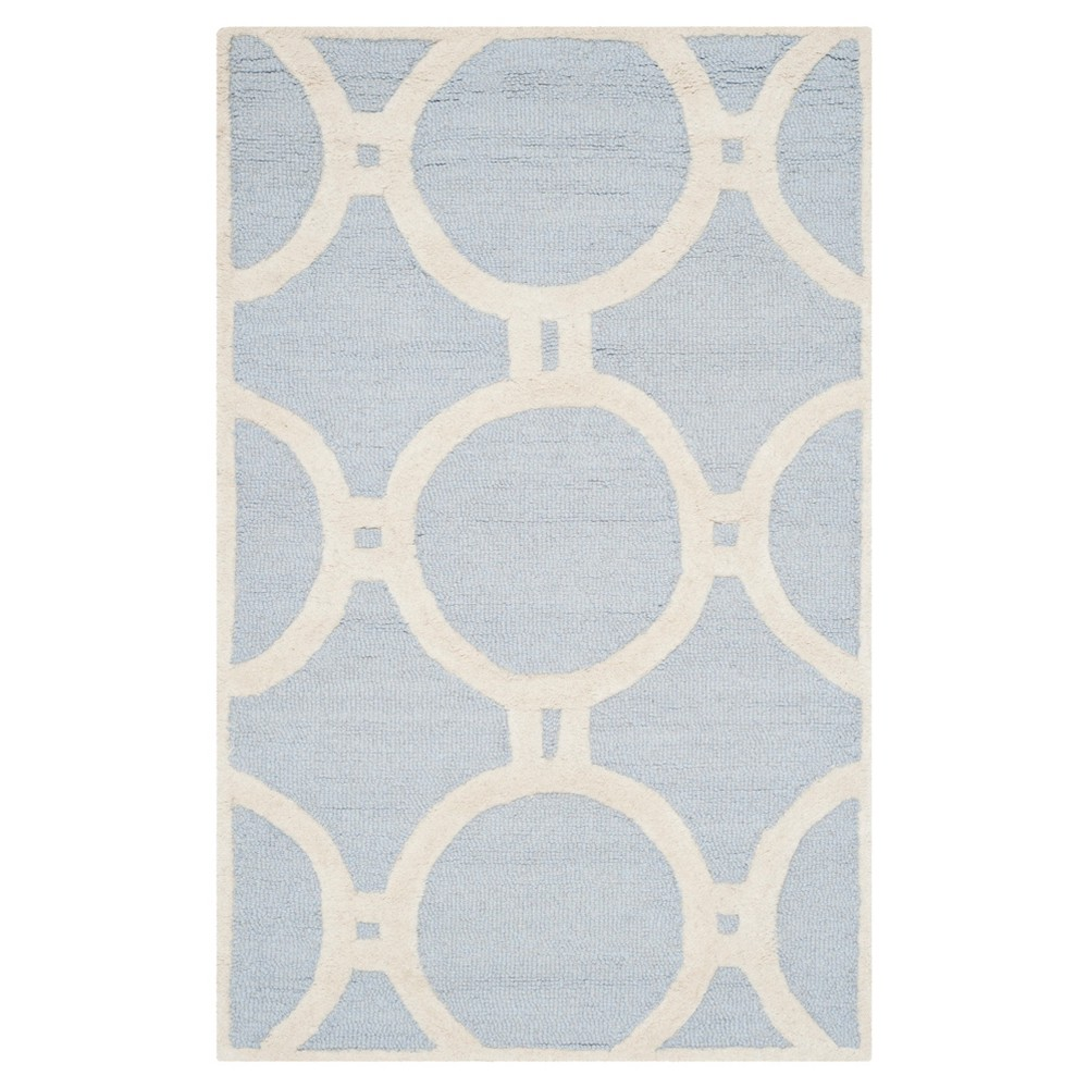 Sullivan Accent Rug - Light Blue / Ivory ( 2' 6 X 4' ) - Safavieh, Light Blue/Ivory