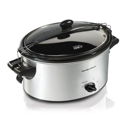 Hamilton Beach Stay or Go 4qt Slow Cooker - Silver - image 1 of 3