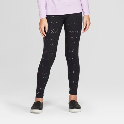 Girls' Leggings - Cat & Jack™ Black - image 1 of 3