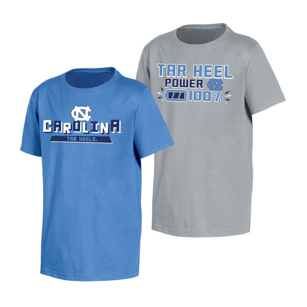 NCAA Toddler Boys' 2pk T-Shirt North Carolina Tar Heels - 2T, Multicolored