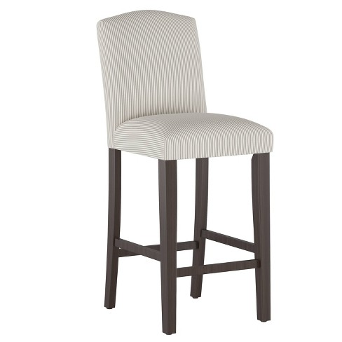 Camel Back Bar Stool Oxford Stripe Taupe - Cloth & Company - image 1 of 4