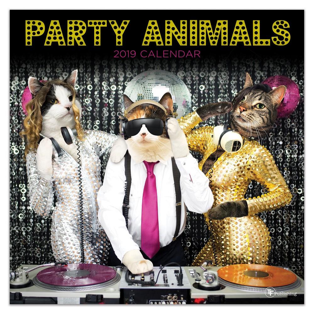 2019 Party Animals Wall Calendar, 2019 Tf Publishing Party Animals Wall Calendar