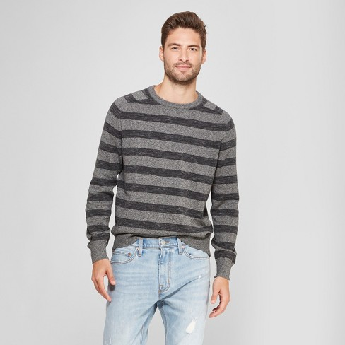 Men's Standard Fit Crew Neck Sweater - Goodfellow & Co™ Charcoal Heather - image 1 of 3