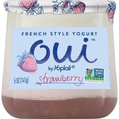Oui by Yoplait Strawberry Flavored French Style Yogurt - 5oz