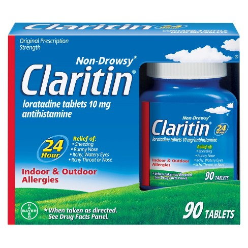 Claritin 24 Hour Non-Drowsy Allergy Relief Tablets - Loratadine - 90ct - image 1 of 4