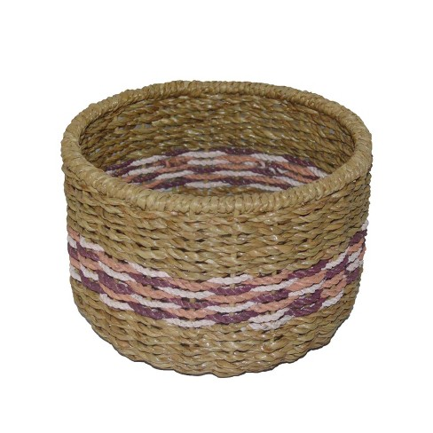 "6.25""x9.25"" Small Basket Pink Striped - Opalhouse™ - image 1 of 2"