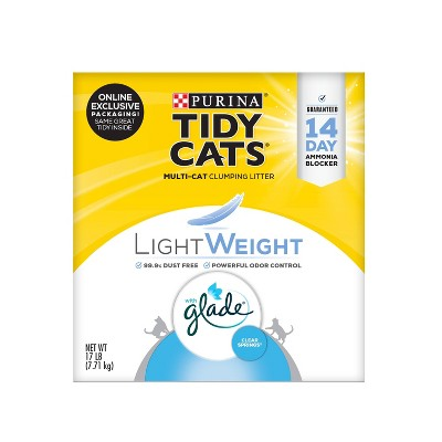Purina Tidy Cats Lightweight Clumping Cat Litter with Glade Tough Odor Solutions