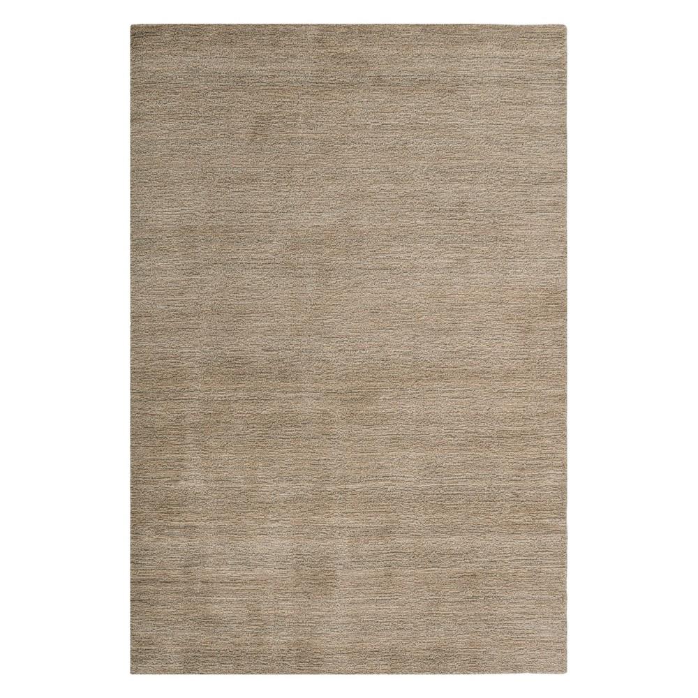6'X9' Solid Loomed Area Rug Gray - Safavieh