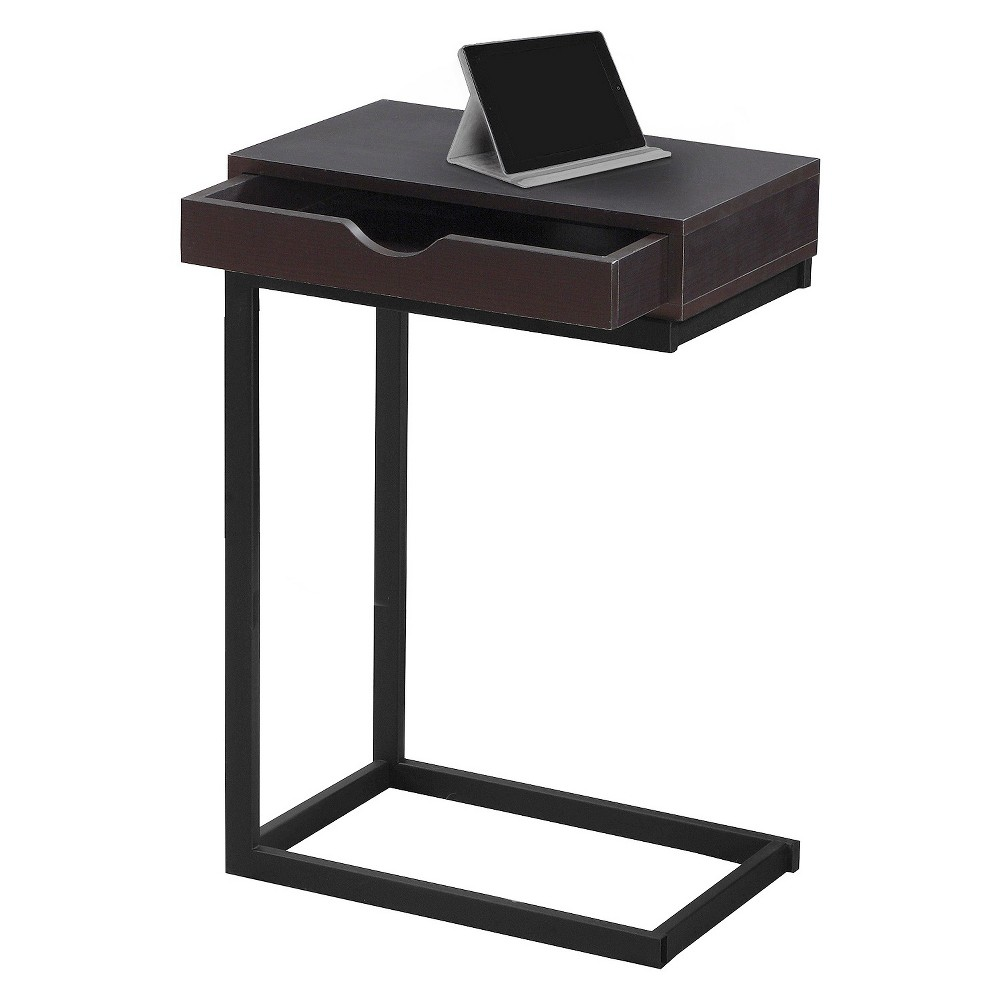 Accent Table with Drawer - Dark Cappuccino - EveryRoom