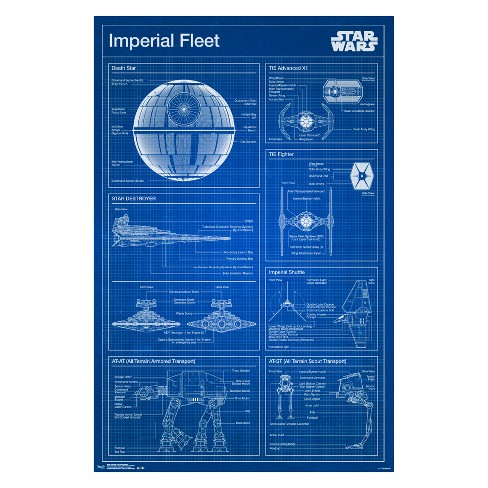 Magnifiek Star Wars - Imperial Blueprint Framed Poster Trends International @RB92