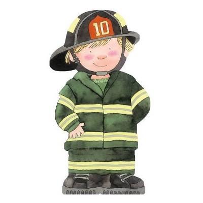 Firefighter - (Mini People Shape Books) by  Giovanni Caviezel (Board Book)