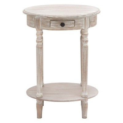 Wood Oval Accent Table Taupe - Olivia & May