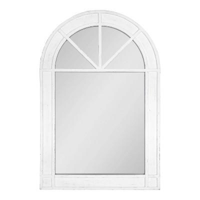 "24"" x 36"" Stonebridg Arch Wall Mirror White - Kate & Laurel All Things Decor"