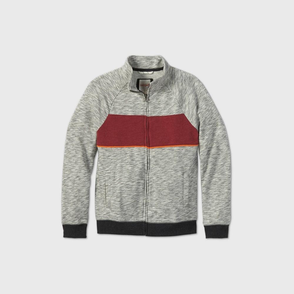 Boys 39 French Terry Mock Neck Sweatshirt Cat 38 Jack 8482 Gray Red Orange Xxl