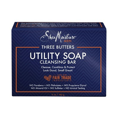 Bar Soap: SheaMoisture Three Butters Utility Soap