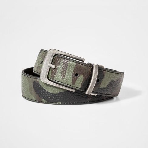 Boys' Camo Reversible Belt - Cat & Jack™ Olive XL - image 1 of 1