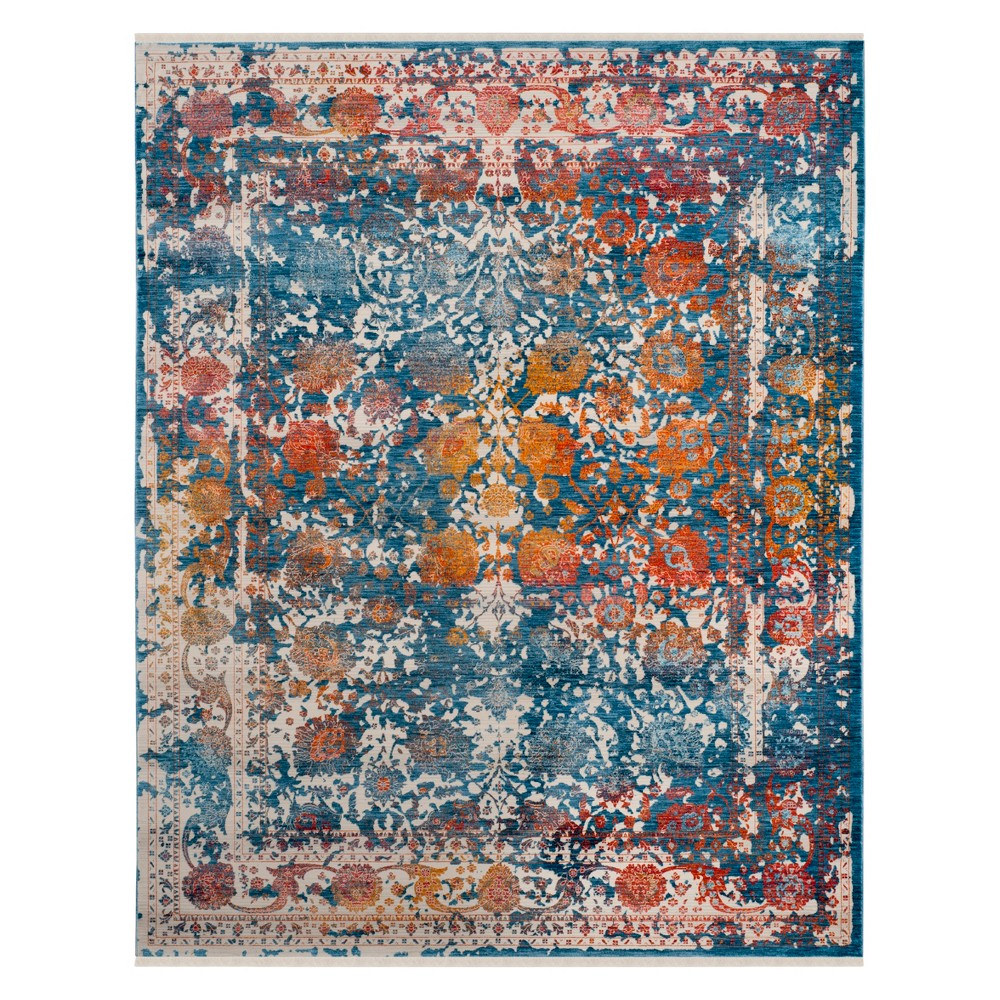 8'X10' Shapes Loomed Area Rug Turquoise - Safavieh, Turquoise/Multi-Colored