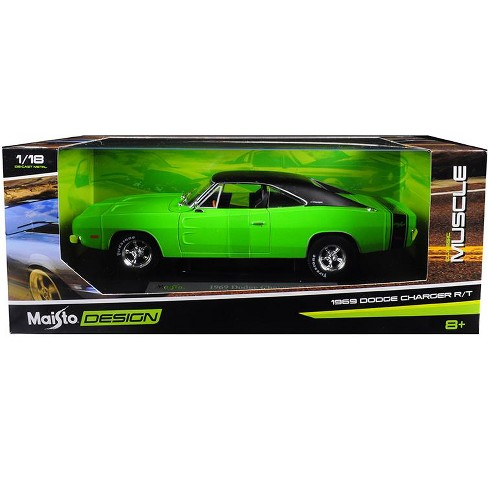 1969 Dodge Charger R/T Green with Black Top 1/18 Diecast Model Car by Maisto - image 1 of 1