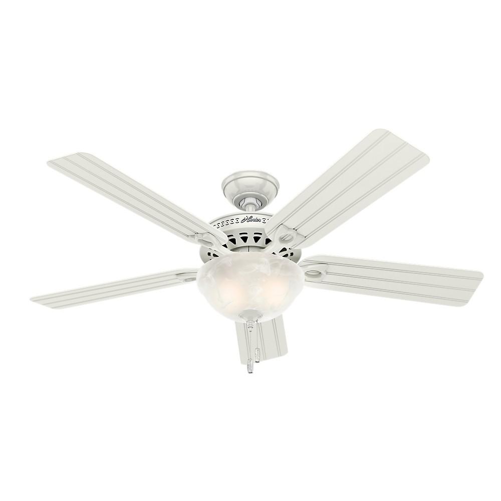 """Image of """"52"""""""" LED Beachcomber Lighted Ceiling Fan White - Hunter Fan"""""""