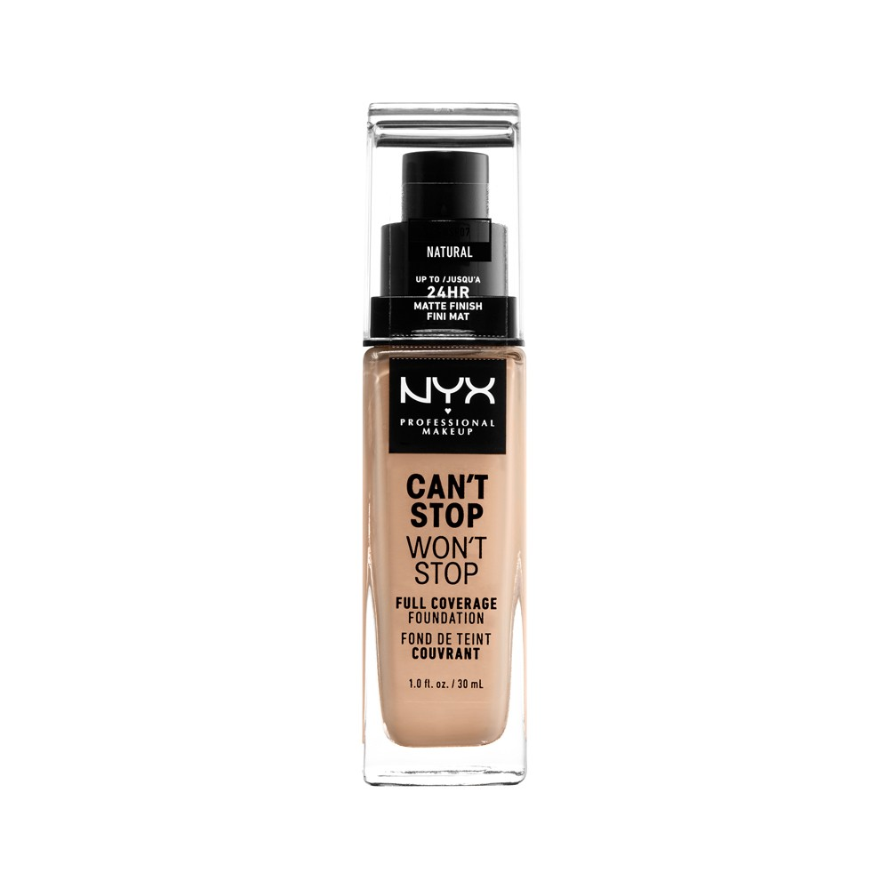Nyx Professional Makeup Can't Stop Won't Stop Full Coverage Foundation Natural - 1.3 fl oz