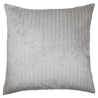 """Silver Stripe Square Throw Pillow (18""""x18"""") - The Pillow Collection"""