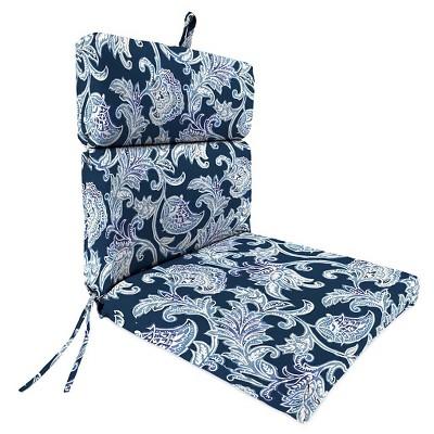 Jordan French Edge Dining Chair Cushion - Lahaye Indigo