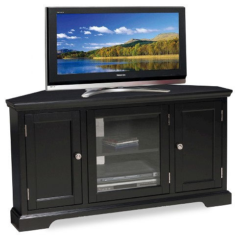 "56"" Corner TV Stand Black - Leick Home - image 1 of 1"