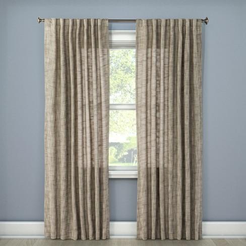 Textured Weave Back Tab Window Curtain Panel - Threshold™ - image 1 of 2