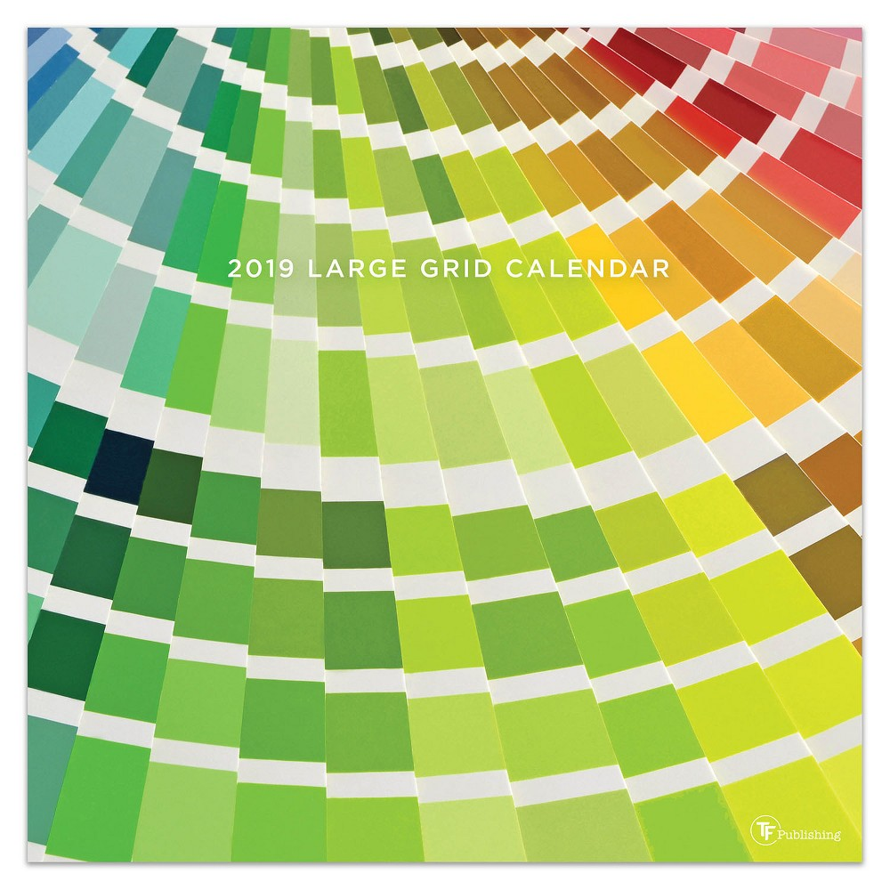 2019 Color of the Day Wall Calendar, 2019 Tf Publishing Big Grid - Color Of The Day Wall Calendar
