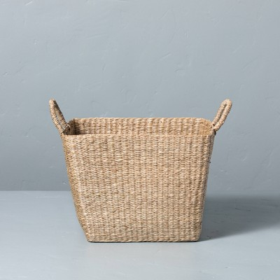 Large Woven Seagrass Basket with Handles - Hearth & Hand™ with Magnolia