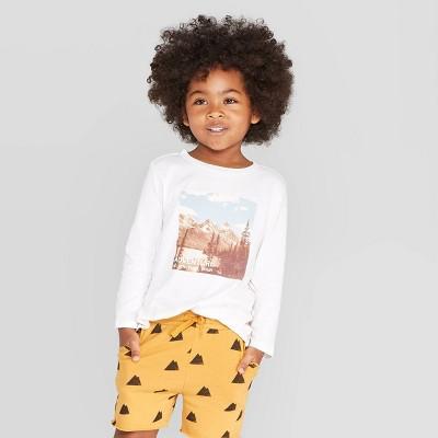 Toddler Boys' Long Sleeve Mountain Scene T-Shirt - art class™ Ivory 3T