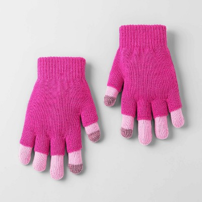 Girls' Solid Bubble Gloves - Cat & Jack™ Pink